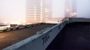 hazy city