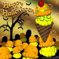 Pumpkin Ice Cream Patch by EvilCatArts