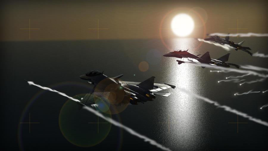 Falcon-1 Fox Three! Fox Three! by Helge129