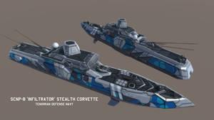 SCNP-8 'Infiltrator' Stealth Corvette by Helge129