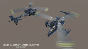 AH-N-86 'Cassowary' Attack Helicopter by Helge129