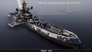 FBB-47 Furious Thunder-class Battleship (redux)