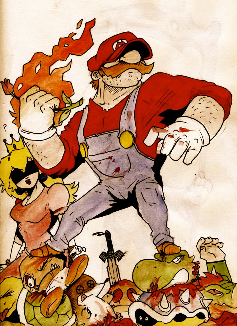 [solved]Dat Nintendo - Page 5 Badass_mario_by_dommi_fresh-d399dkm