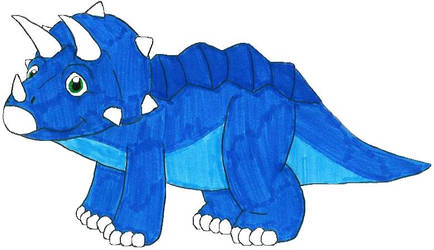 Tony the Blue Triceratops by MCsaurus