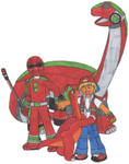 Jurassic Patrol Red Ranger