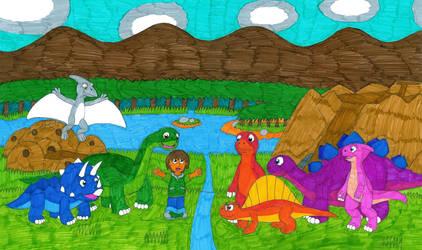 Mattias and his Dino friends by MCsaurus