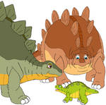 Spike, Tippy and their baby