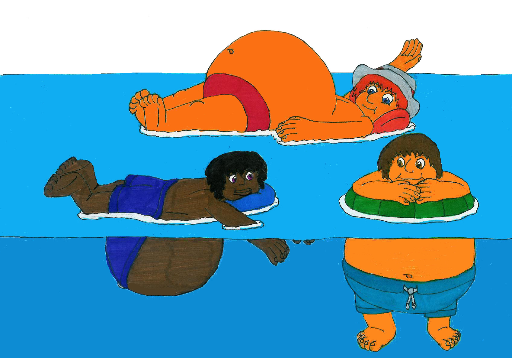 Cartoon Boy Swimming Images | FemaleCelebrity