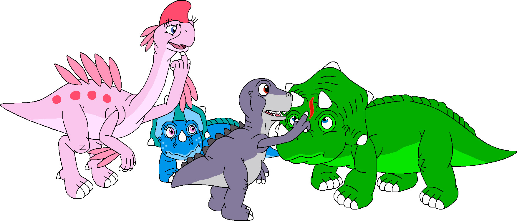 Chomper Land Before Time Coloring winx club princess coloring pages