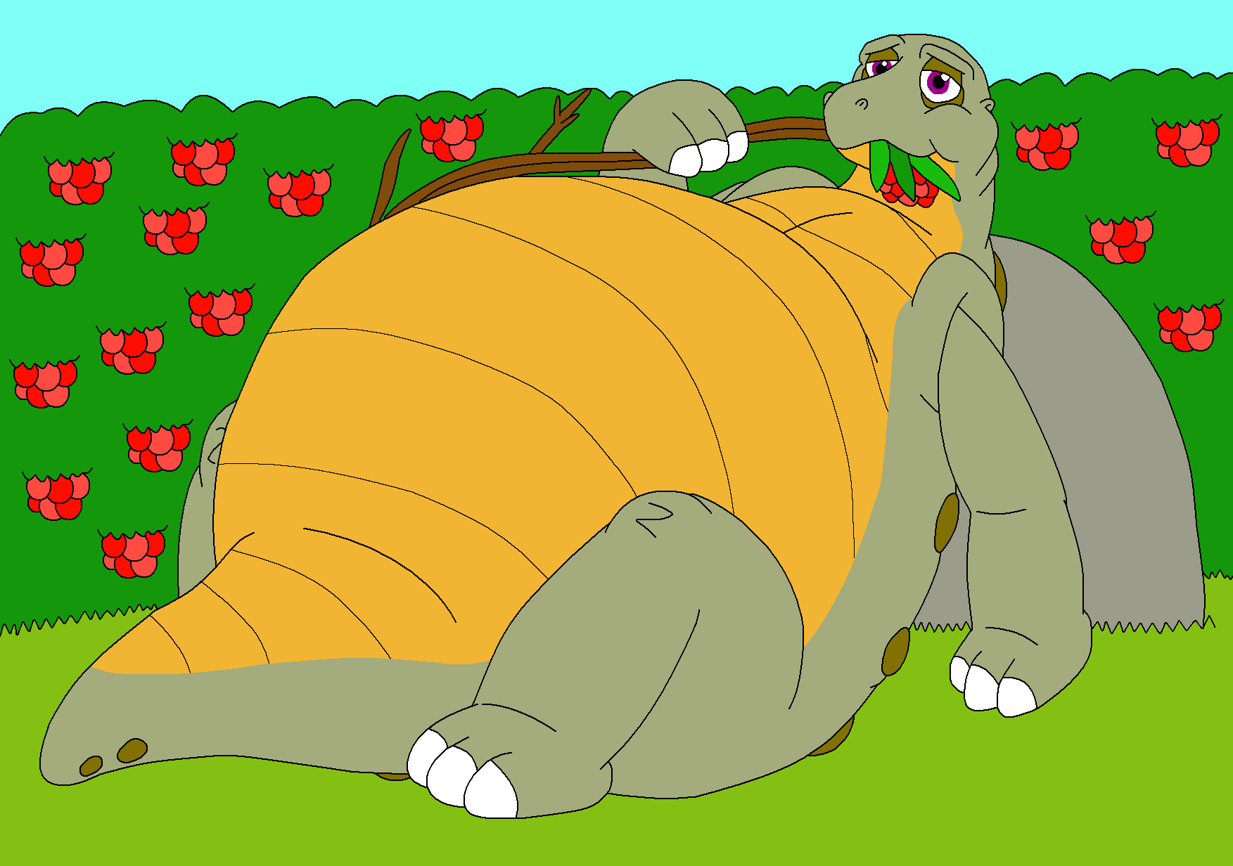 http://orig02.deviantart.net/ea4c/f/2010/197/a/6/spike_eat_too_much_berries_by_mcsaurus.jpg