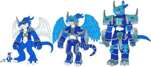 Veemon Digivolve family