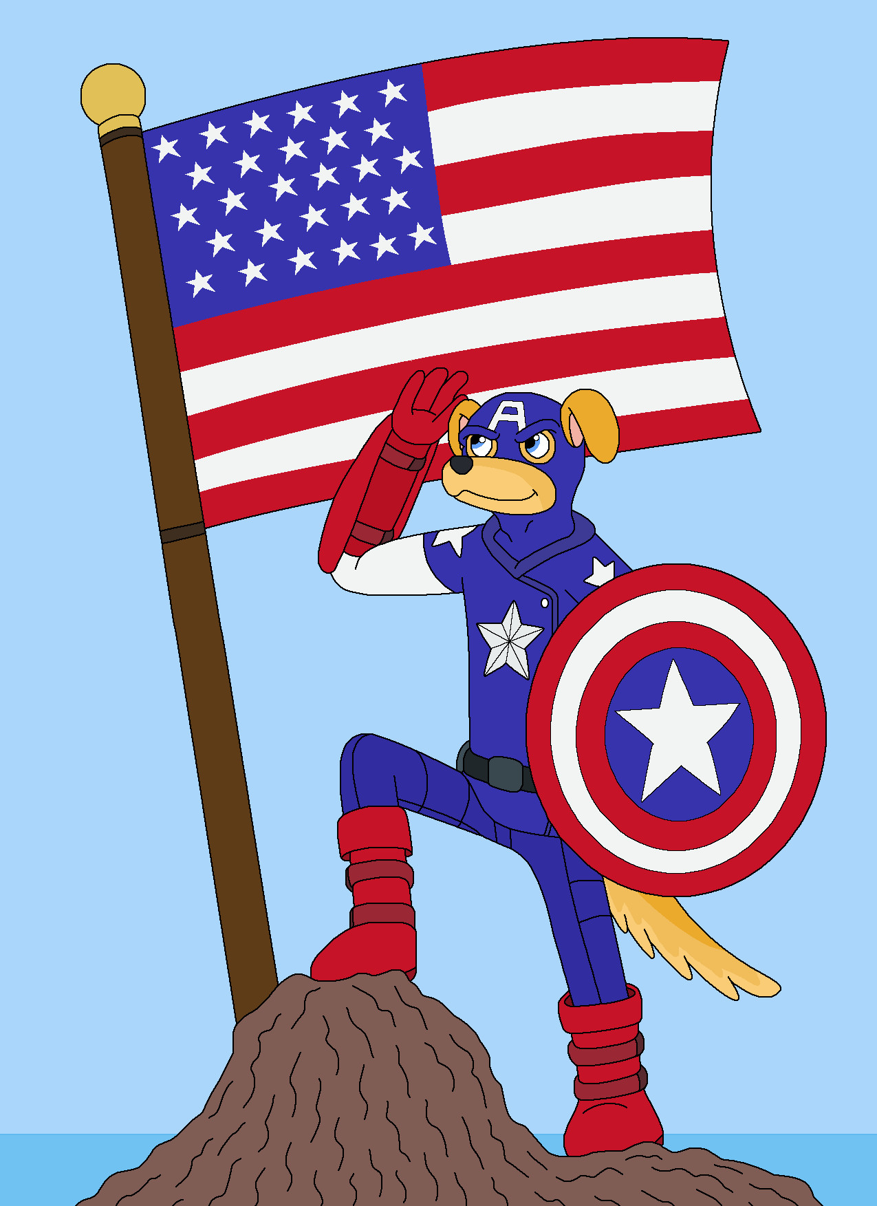 American Dog the First Animal Force by MCsaurus