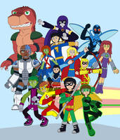 Teen Titans by MCsaurus