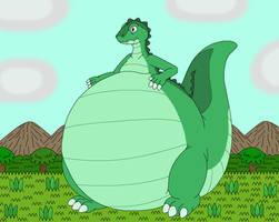 Liposaurus the bigger belly dinosaur by MCsaurus