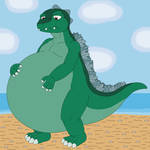 Godzilla is feel so chubby