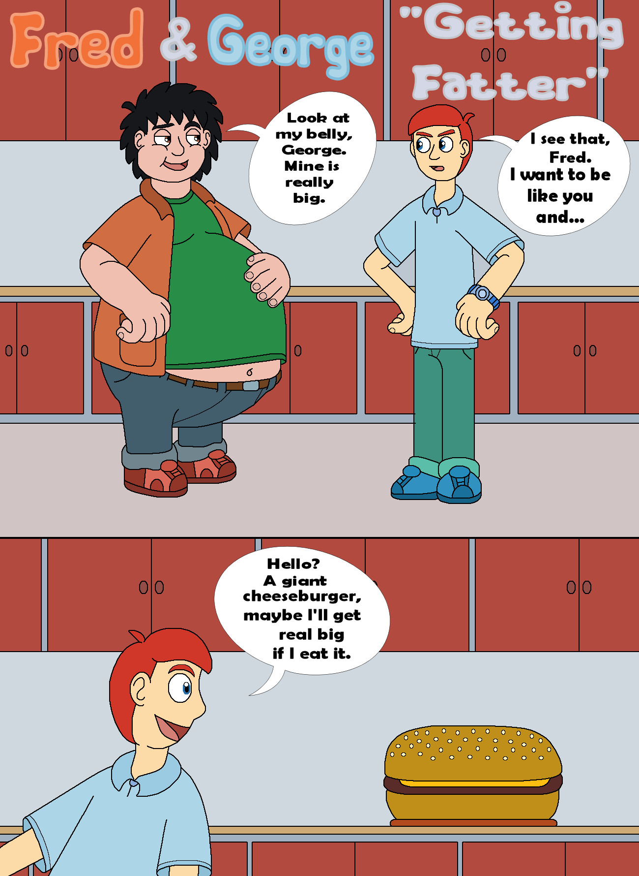 Fred and George Getting Fatter 01 by MCsaurus on DeviantA