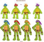 Ninja Turtle Pokemon by MCsaurus
