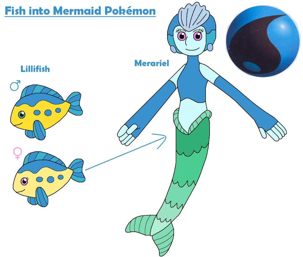 Fish into Mermaid Poke...