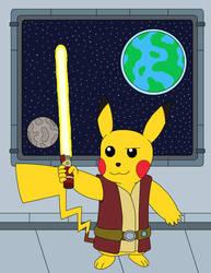Jedi Pikachu by MCsaurus