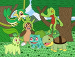 Starter Pokemon - Grass-types