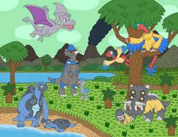 Prehistoric Pokemon by MCsaurus