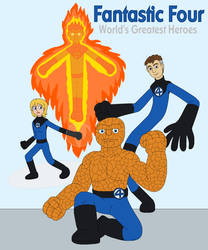 Fantastic Four - World's Greatest Heroes by MCsaurus