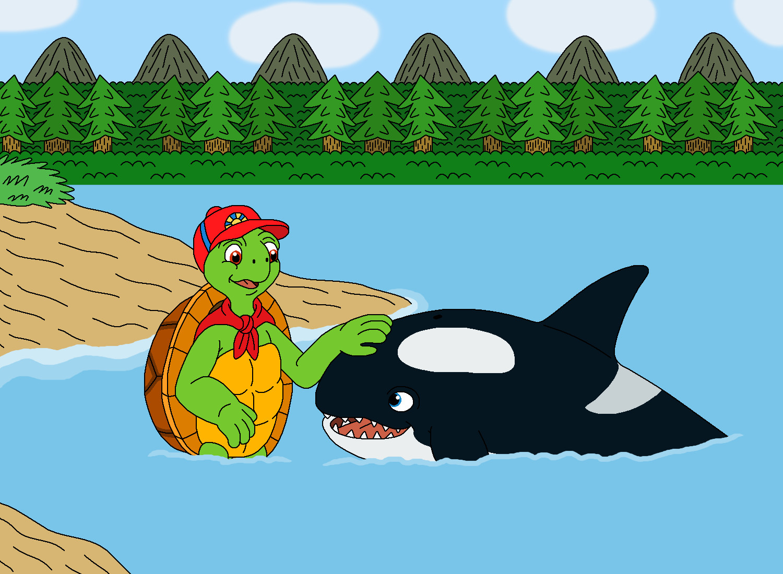Uncategorized Cartoon Franklin franklin the turtle meet moby orca by mcsaurus on deviantart mcsaurus