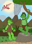 Iguana Twins, Green and Lime