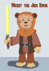 Wicket the Jedi Ewok by MCsaurus