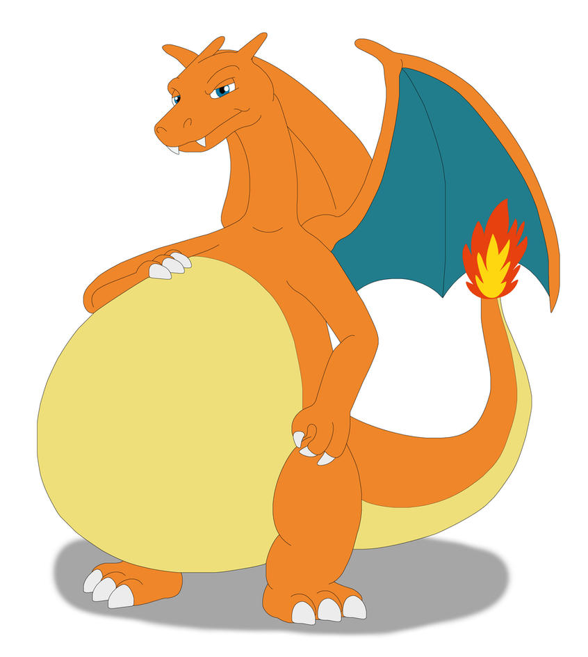 Belly Rumble Furry: Charizard's Big Belly By MCsaurus On DeviantArt
