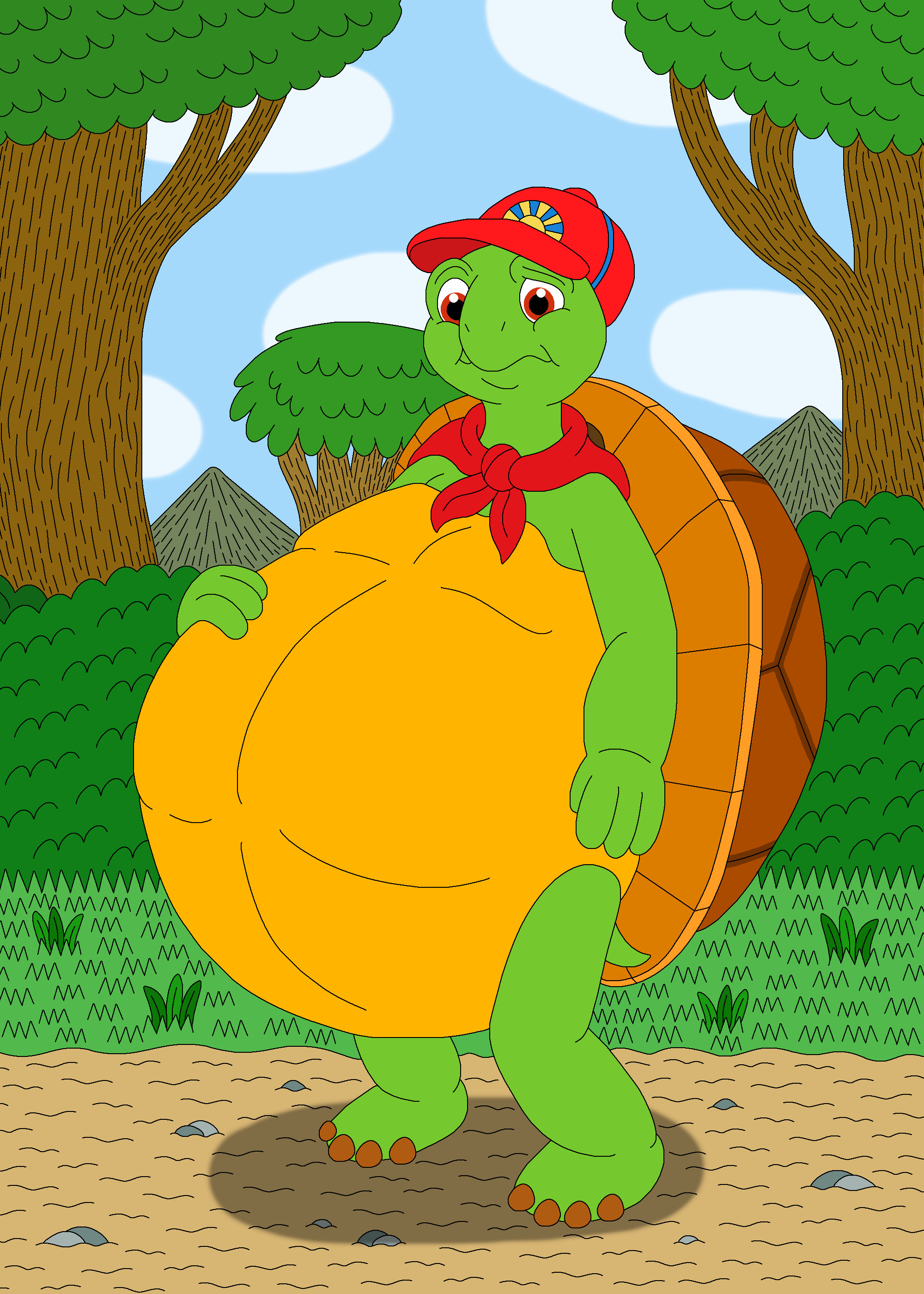 Uncategorized Picture Of Franklin The Turtle franklin the turtle and his friends by mcsaurus on deviantart 60 57 franklins big belly mcsaurus