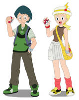 Max and Bonnie as 10-year-old Pokmon Trainers by MCsaurus