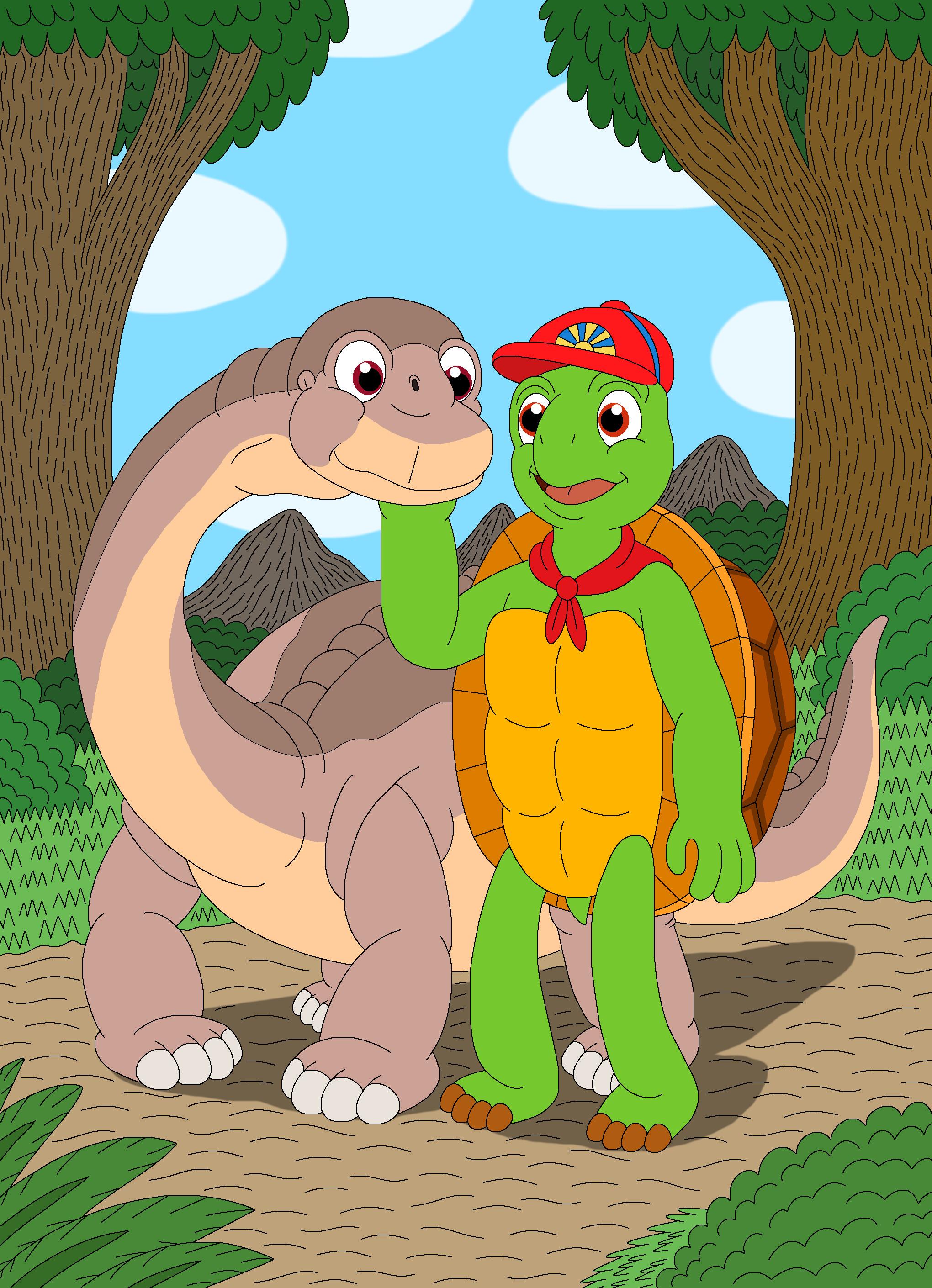 Uncategorized Cartoon Franklin franklin befriends littlefoot by mcsaurus on deviantart mcsaurus