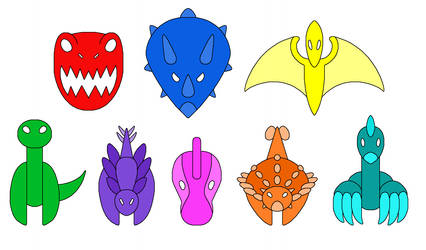 Symbols of PJ Masks Dino Force by MCsaurus