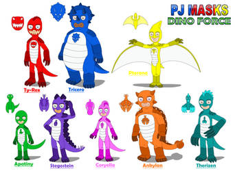 Eight PJ Masks Dino Force by MCsaurus