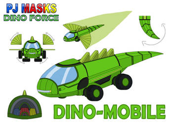 PJ Masks Dino Force - Dino-Mobile by MCsaurus