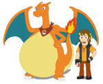 Flame and his partner Charizard