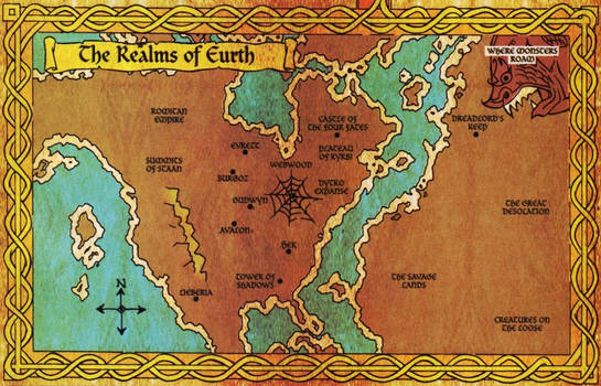 The Realms of Eurth map