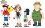 Let's Go, Pokemon - Main Characters by MCsaurus