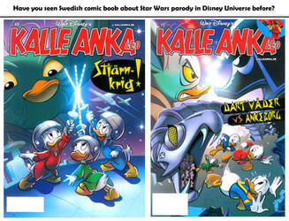 Comic Book about Star Wars parody in Disney