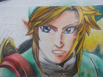 link pencil painting
