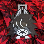 emo doggy premade perler badge gift by iamsonofsam