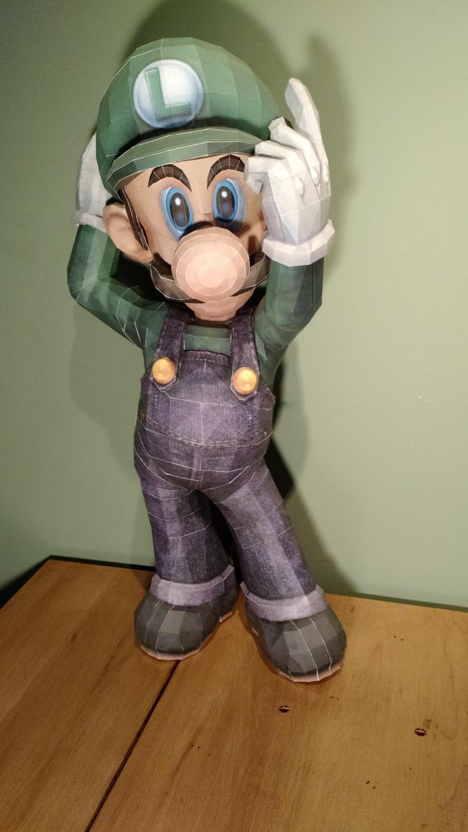 Luigi Papercraft by Nohlis