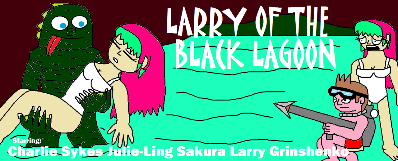 Larry of the black lagoon by scifiguy9000