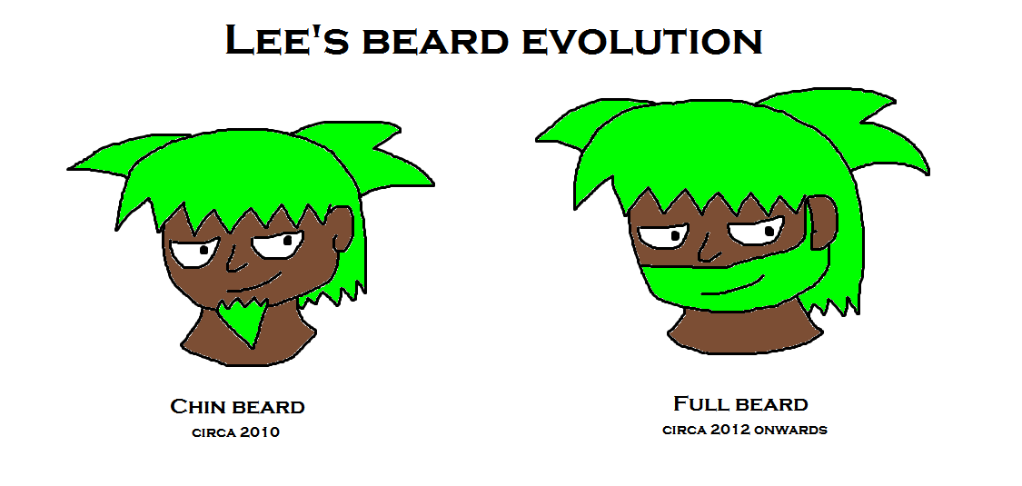 Lee's beard evolution by scifiguy9000