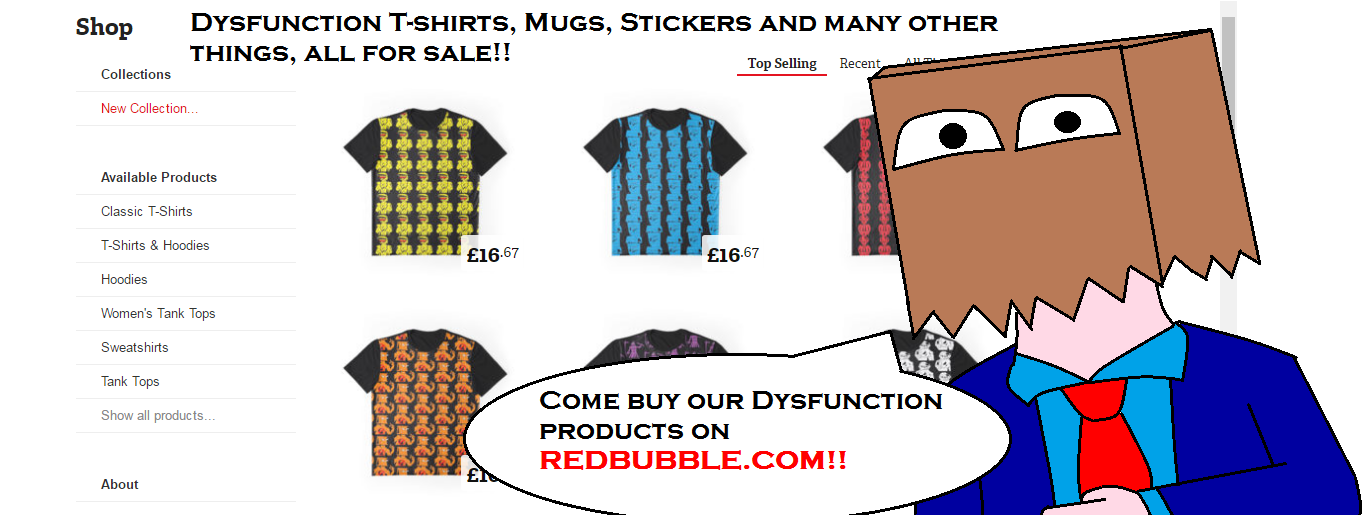 Dysfunction products for sale! by scifiguy9000
