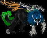 Peacock Black Jaguar Griffin