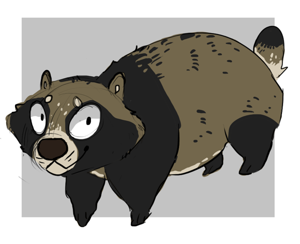 Raccoon dog by painted-flamingo