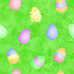 Easter Eggs and Grass Pattern