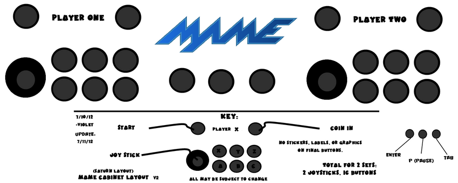 Mame Arcade Layout V2 Saturn Style By Violetlinked On